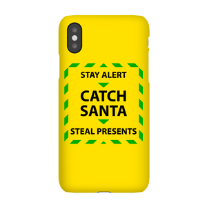 Stay Alert & Catch Santa Phone Case for iPhone and Android