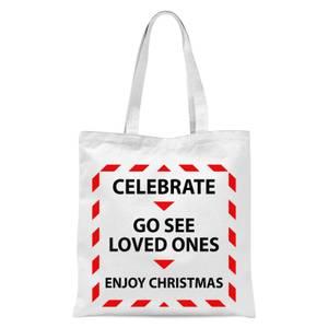 Enjoy Christmas 2021 Tote Bag - White