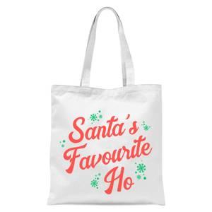 Santa's Favourite Ho Tote Bag - White