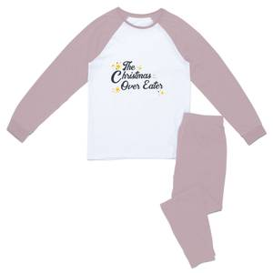 The Christmas Over Eater Women's Pyjama Set - Pink White