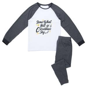 Some What Full Of Christmas Joy Women's Pyjama Set - Grey White