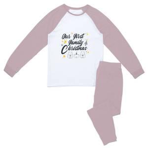 Our First Family Christmas Women's Pyjama Set - Pink White