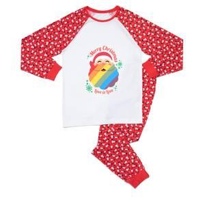 Festive Pride Men's Pyjama Set - Red White Pattern