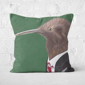 Kiwi In Suit Square Cushion