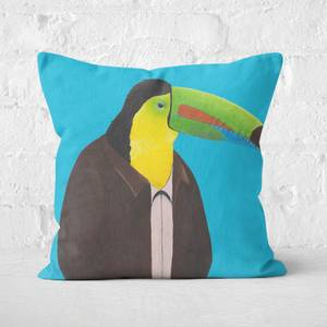 Toucan In Suit Square Cushion