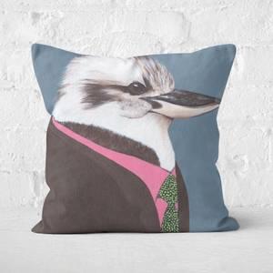 Kookaburra In Suit Square Cushion