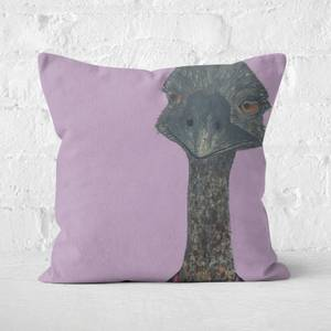 Ostrich In Suit Square Cushion