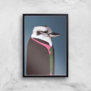 Kookaburra In Suit Giclee Art Print