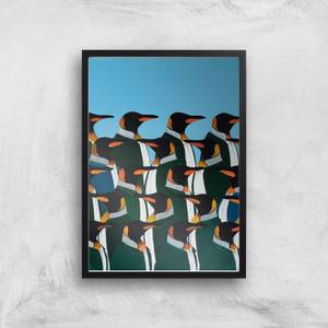 Penguins In Suits Giclee Art Print
