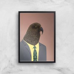 Kea In Suit Giclee Art Print