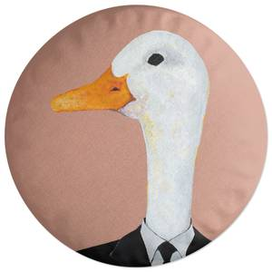Ducky In Suit Round Cushion