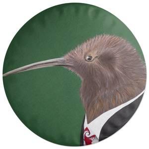 Kiwi In Suit Round Cushion