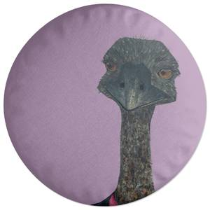 Ostrich In Suit Round Cushion