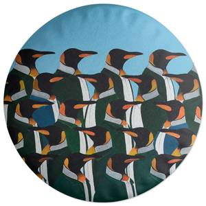 Penguins In Suits Round Cushion