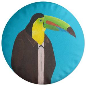 Toucan In Suit Round Cushion