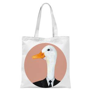 Ducky In Suit Tote Bag - White