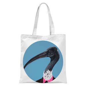 Ibis In Suit Tote Bag - White