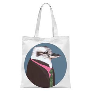 Kookaburra In Suit Tote Bag - White