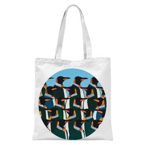 Penguins In Suits Tote Bag - White