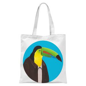 Toucan In Suit Tote Bag - White