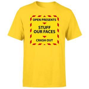 NHS Covid Christmas Time Line Men's T-Shirt - Yellow