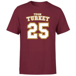 Christmas Sports Team Turkey Men's T-Shirt - Burgundy
