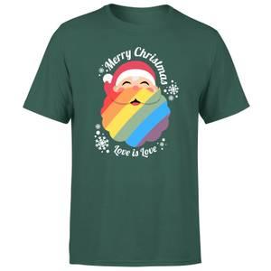 LGBTQ+ Christmas Love Men's T-Shirt - Green
