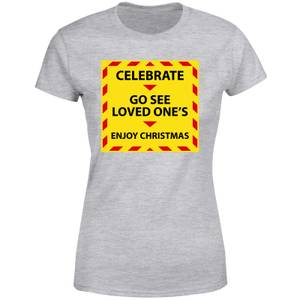 NHS Covid Christmas Seeing Love Ones Women's T-Shirt - Grey