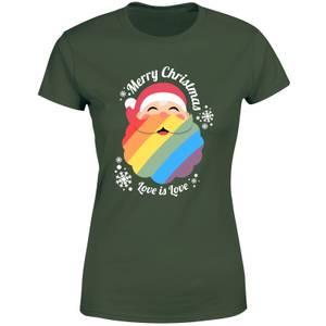 LGBTQ+ Christmas Love Women's T-Shirt - Green