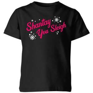 Drag Act Shantay You Sleigh Kids' T-Shirt - Black