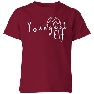 Youngest Elf Kids' T-Shirt - Burgundy