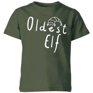 Oldest Christmas Elf Kids' T-Shirt - Green