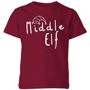 Middle Elf Kids' T-Shirt - Burgundy
