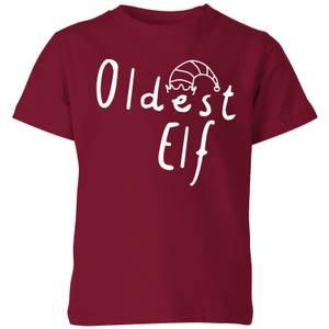 Oldest Elf Kids' T-Shirt - Burgundy