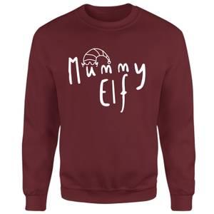 Mummy Elf Sweatshirt - Burgundy