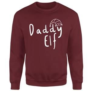 Daddy Elf Sweatshirt - Burgundy