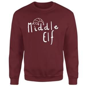Middle Elf Sweatshirt - Burgundy