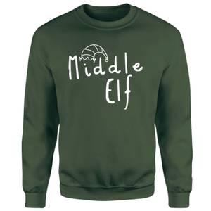 Middle Christmas Elf Sweatshirt - Green