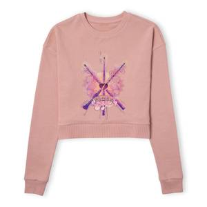 Harry Potter Until The Very End Women's Cropped Sweatshirt - Dusty Pink