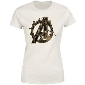 Marvel Avengers Logo Women's T-Shirt - Cream