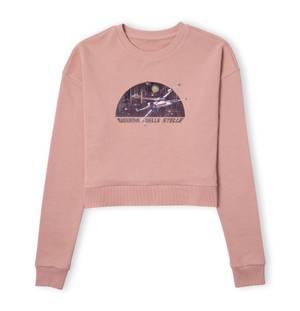 Star Wars X-Wing Italian Women's Cropped Sweatshirt - Dusty Pink