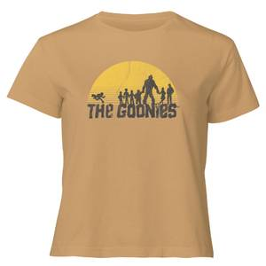 The Goonies Retro Logo Women's Cropped T-Shirt - Tan