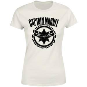 Captain Marvel Logo Women's T-Shirt - Cream