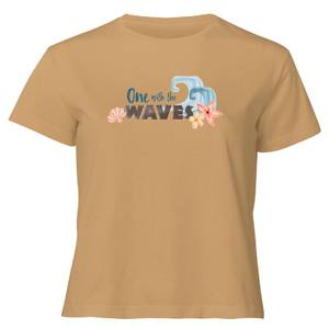Moana One With The Waves Women's Cropped T-Shirt - Tan