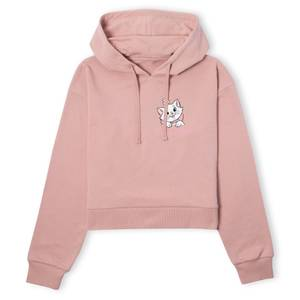 Disney Aristocats Marie I'm A Lady Women's Cropped Hoodie - Dusty Pink