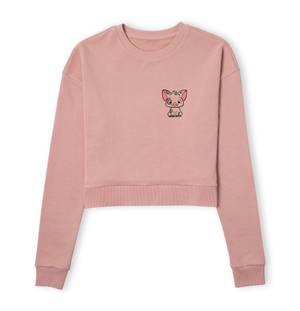 Moana Pua The Pig Women's Cropped Sweatshirt - Dusty Pink