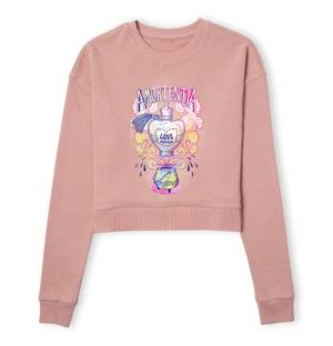 Harry Potter Amorentia Love Potion Women's Cropped Sweatshirt - Dusty Pink