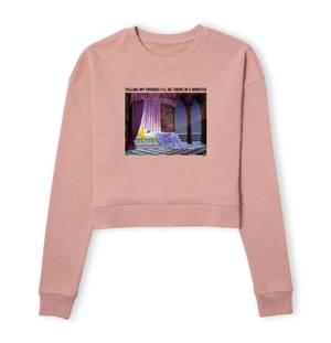 Disney Sleeping Beauty I'll Be There In Five Women's Cropped Sweatshirt - Dusty Pink