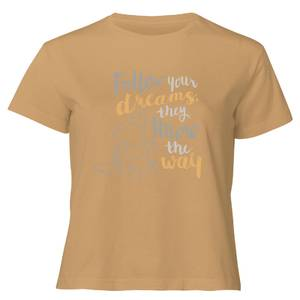 Dumbo Follow Your Dreams Women's Cropped T-Shirt - Tan