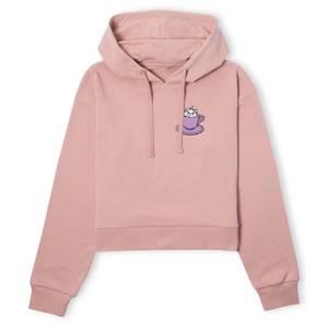 Disney Aristocats Marie Teacup Women's Cropped Hoodie - Dusty Pink